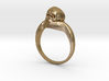 150109 Skull Ring 1 Size 13  3d printed