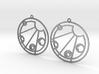 Kelsey - Earrings - Series 1 3d printed