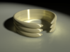 Open Banded Ring 3d printed