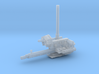 YT1300 HSBRO GROUND BUZZER 3d printed Millennium belly turret, render.