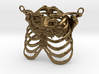 Ribcage With Stylized Heart Pendant 3d printed