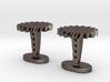 Helical Gear Cufflinks 3d printed
