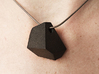 Faceted Rock Pendant 3d printed