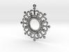 Flower shape pendant 3d printed