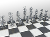 FiligreeChess 3d printed Rendered in Maya.