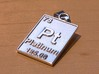 Platinum Periodic Table Pendant 3d printed This a digitally altered photo that gives you an approximation of what a platinum print would look like.  Platinum has a bright silver-white color. It goes through extensive hand-polishing to give it a smooth, shiny finish.
