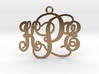 KPE Monogram Necklace 3d printed