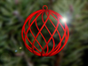 spiral christmas ball large 3d printed