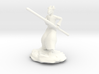 Dragonborn Monk in Robes with Quarterstaff 3d printed