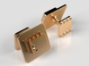 555 Timer Cufflinks 3d printed 14K Gold
