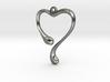 Heart shape pendant 3d printed