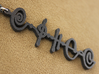 """Kaiidth"" (What Is, Is) Vulcan Script Pendant 3d printed Pictured: Matte Black Steel"