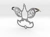 Dove/Flower Pendant  3d printed