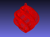 Red/White Shell Christmas Ornament, Medium 3d printed