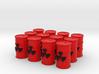 Power Grid Red Uranium Barrels, Set of 12 3d printed