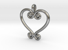 Swirling Love 3d printed Raw silver casting