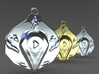 """""""Play"""" pendant 1-st edition, """"Player"""" jewelry coll 3d printed"""