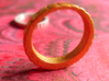 QQ Hair Ring 3d printed Stainless Steel and Silver