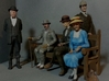 1:20.32 Scale Hyde Park Bench 3d printed Some of my figures enjoying my bench
