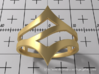 Ring Model C - Size 6 - Gold 3d printed