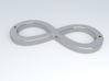 Infinity Sign 3d printed Representation of polished silver