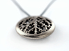 Leaf Veins Pendant 3d printed Stainless Steel