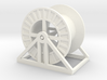 HO Steel Cable Reel (Empty) 3d printed