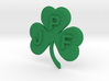 Personalize-able Lucky Shamrock Pendant 3d printed
