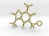 Caffeine Molecule Earring / Pendant Silver 3d printed