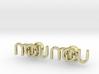 Monogram Cufflinks MWO 3d printed