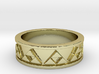 Triforce Ring 3d printed