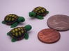 Concha: Little Turtle (1 piece) 3d printed 3 Color Sandstone Turtles Studio Shot