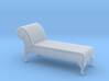 1:48 Queen Anne Chaise (No Back) 3d printed