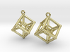Tesseract Earrings 3d printed
