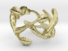 Leaves Ring Size 7 3d printed