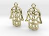 Hamsa Hand Earrings 3d printed