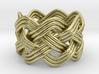 Turk's Head Knot Ring 4 Part X 7 Bight - Size 5 3d printed