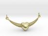 Crescent Heart Pendant 3d printed