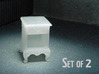 1:48 Queen Anne Nightstand, with shelves 3d printed