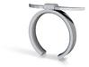 Bull Horn Ring - Sz.7 3d printed