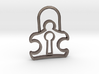 Autism Lock Pendant 3d printed