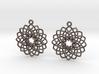 Mandala Flower Earrings 3d printed