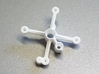 F3P Single motor contra - Main Frame  3d printed Actual part printed in white strong and flexible.
