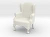 1:24 Queen Anne Wingback Chair 3d printed