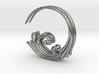 Flourish Earrings 3d printed