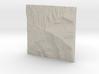 8'' Grandfather Mtn, N. Carolina, USA, Sandstone 3d printed