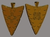 Eagle Pendant (double-sided) 3d printed render showing both sides