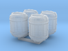 1/87 Scale Bio Medical Containers x4 3d printed
