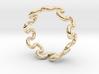 Wave Ring (19mm / 0.74inch inner diameter) 3d printed