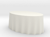1:48 Draped Table - Large Oval 3d printed